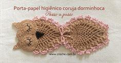 Porta-papel higiênico coruja dorminhoca   Croche.com.br