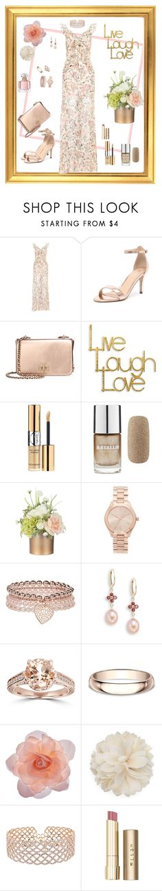 """Dreamy Dress- VII"" by mary-kay-de-jesus ❤ liked on Polyvore featuring Topshop, Verali, Tory Burch, PTM Images, Yves Saint Laurent, Forever 21, Michael Kors, Monsoon, Saks Fifth Avenue and Bliss Diamond"