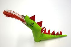 make a dragon out of toilet paper tubes