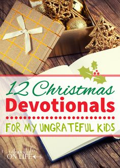 If your kids are only concerned about what they're getting this Christmas season - you've got to try these 12 Christmas devotionals. It will help them realize what they have to be thankful for!