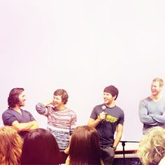 Eoin Macken, Alexander Vlahos, Colin Morgan and Tom Hopper || Merlin cast at Cold Con