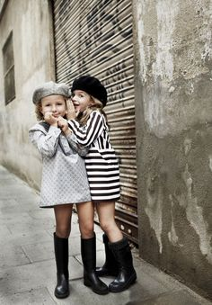 cute friends looling 60's style.