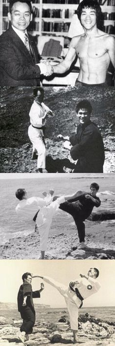 Grandmaster Jhoon Rhee with Bruce Lee.