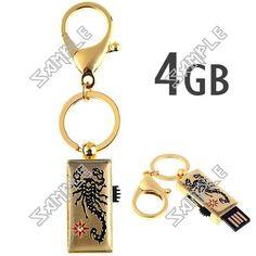 Low Price Samsung Accessories: Key Chain Style Scorpion Pattern USB 2.0 4GB Samsu...