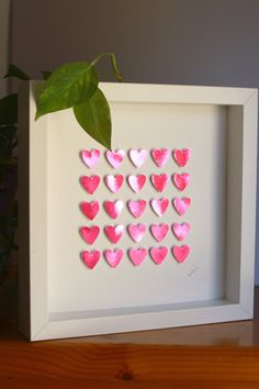 paper hearts/ wedding/ pink hearts / home by GosiaandHelena, Anniversary Present, Paper Artwork, Pink Hearts, Paper Hearts, 3d Paper, Box Frames, Love Gifts, Watercolor Paper, Valentine Gifts