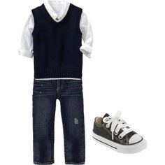 """""""Baby Boy Fashion"""" by jazminmarie on Polyvore another possible outfit for my boys presentation in the church. just a diff colored vest. follow @calikidstyle101 on instagram for more cute outfits"""