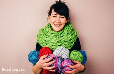 She Takes Some Yarn And Starts To Knit With Her Arms. The Result? Wow.