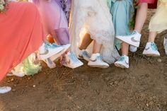 Nike shoes for the bride and bridesmaids. // Photo by Michael Segal Weddings.