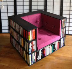 If you have a Bookworm in the family this DIY Bookshelf Chair is just what they need and it looks amazing! It's a fantastic DIY that you'll be so proud of and very affordable. Drop into The WHOot for more great DIY projects.