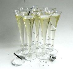 vintage champagne flutes | Glass Champagne Flutes