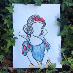 Snow white zentangle