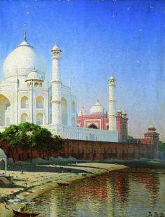 Василий Верещагин - Мавзолей Тадж-Махал близ Агры. Индия (1875)