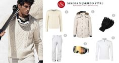Wyjazd na narty to świetny sposób na spędzenie zimowego urlopu. W tym sezonie nadal modna jest biel. Postawcie na ciepłą kurtkę z kapturem, narciarskie spodnie. Do tego ciepły sweter, a pod niego termoaktywna bluzka. Nie zapomnijcie o rękawiczkach. Obowiązkowe podczas zimowych szaleństw są gogle. Polyvore, Fashion, Moda, Fashion Styles, Fashion Illustrations