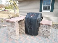 Outdoor Grilling Area/ Brick Paver Patio/ Twin Eagles Grill/  KIEFERLANDSCAPING.COM