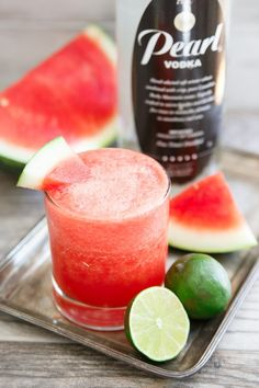 These three slushies are made with ripe summer fruit and a complementary boozy addition for an adult version of a summer-time favorite.