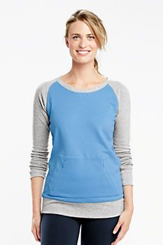 Women's Activewear Tunic Sweatshirt from Lands' End