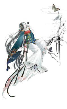 [] Jun-heart still do not know how to break the strings. Japanese Painting, Japanese Art, Chinese Drawings, Geisha Art, Game Character Design, China Art, Human Art, Ancient Art, Female Art