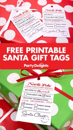 Christmas Gifts - Put a unique stamp on your Christmas gift wrapping with our free printable Santa. Free Christmas Gifts, Christmas Eve Box, Homemade Christmas Gifts, Santa Gifts, Christmas Gift Wrapping, All Things Christmas, Christmas Holidays, Christmas Crafts, Christmas Morning