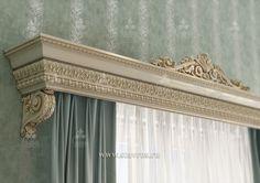 Резной карниз для штор. Дизайн-проект. #дом #интерьер #окно #резьба #декор #оформление #декорирование The carved cornice for curtains. The design project. #home #interior #window #carving #decor #design #decorating