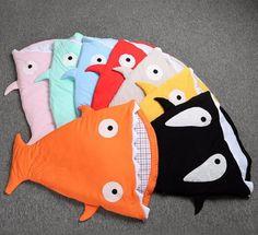 Newborn Baby Shark Mermaid Tail Blanket Children Bedding Infant Swaddle Kids Baby Soft Cotton Sleepbag Mermaid Tail Blanket Wrap
