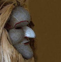Chewa Nyau Mask, Gule Wa Mukulu - Zambia, Katete District Auction, African, House, Home, Homes, Houses