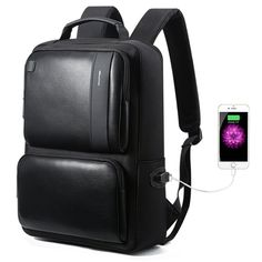 e7c091b2ed20 Bopai Business Backpack 15 inch Laptop Bag USB Charging Port and Anti-theft Computer  Rucksack