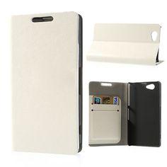 Bookcase hoesje wit voor de Sony Xperia Z1 mini