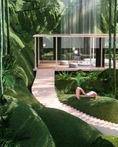 glimpse into the overgrown environments envisioned by paul milinski Organic Architecture, Futuristic Architecture, Interior Architecture, Interior And Exterior, Minimalist Architecture, Futuristic Design, Chinese Architecture, Architecture Organique, Design Jardin