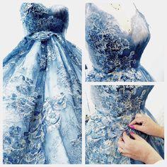 Baśniowa sukienka stworzona w Atelier Sylwii Romaniuk.