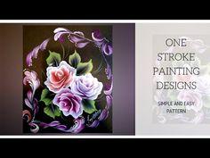 One Stroke Painting   Decorative painting   Acrylic painting   DIY - YouTube