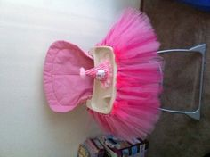 a high chair tutu for her 1st Bday party!