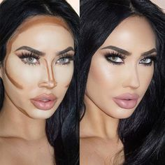 Several Important Tips on How To Contour for Real Life - Easy Contouring for Beginners picture 5 - Makeup Contouring, Easy Contouring, Contouring For Beginners, Makeup For Beginners, Contouring And Highlighting, Skin Makeup, Contouring Products, Liquid Contour, Contour Face