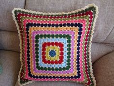 mosaic cushion ~ granny style