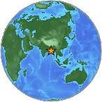 Earthquake location 18.201°N, 88.019°E  21ST MAY 2014 6.0 Magnitude Earthquakes Strikes 275KM SE of Paradip Garh