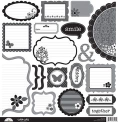 Doodlebug Design - Classic Collection - Cute Cuts - 12 x 12 Cardstock Die Cuts at Scrapbook.com $1.49
