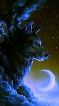 Wolf Wallpaper by georgekev - 38 - Free on ZEDGE™ now. Browse millions of popular animal Wallpapers and Ringtones on Zedge and personalize your phone to suit you. Browse our content now and free your phone Tier Wallpaper, Wolf Wallpaper, Animal Wallpaper, Black Wallpaper, Anime Wolf, Fantasy Kunst, Fantasy Art, Mythical Creatures Art, Wolf Spirit Animal