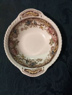 "Vintage Johnson Brothers England Devonshire  Cereal Bowl 7 1/4"" Brown Multicolor #JohnsonBros"