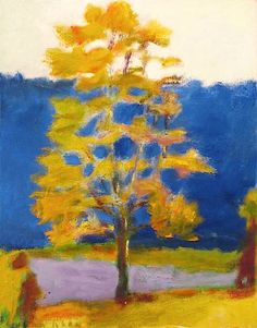 Wolf Kahn Single Tree (Against Blue), 2001