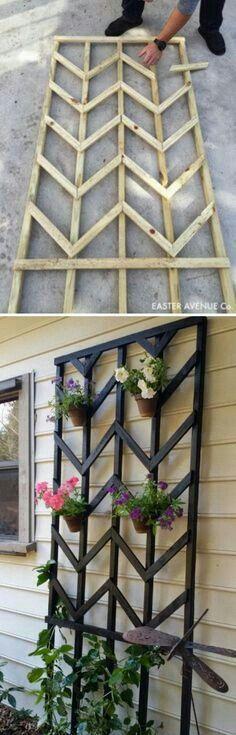 Porch Garden, Diy Garden, Backyard Patio, Garden Beds, Backyard Landscaping, Home And Garden, Landscaping Ideas, Backyard Ideas, Fence Ideas