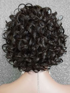Short Inclined Fringe Curly Wave Lace Front Human Hair Wig – - New Site Curly Hair Tips, Curly Hair Men, Curly Hair Styles, Natural Hair Styles, Short Hair Wigs, Human Hair Wigs, Permed Hairstyles, Hairstyles With Bangs, Platinum Blonde Bobs