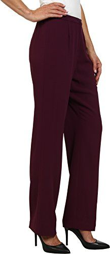 Pendleton Womens Destination Pants, Aubergine Travel Tricotine, 14