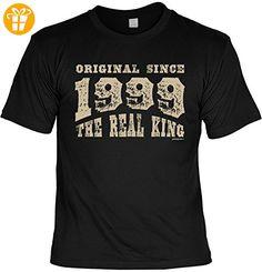 ORIGINAL SINCE 1999 THE REAL KING Herren 18. Geburtstag T-Shirt 18 Jahre Geschenke Idee zum 18. Geburtstagsgeschenk cooles Motiv in Vintage Design Gr: 4XL : ) - T-Shirts mit Spruch | Lustige und coole T-Shirts | Funny T-Shirts (*Partner-Link)