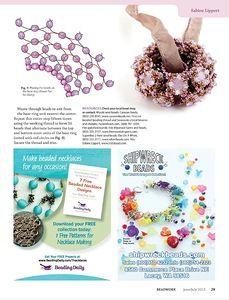 "Photo from album ""Beadwork on Yandex. Beaded Jewelry Patterns, Beading Patterns, Bead Shop, Handmade Beads, Bracelet Tutorial, Beading Tutorials, Bead Earrings, Necklace Designs, Bead Weaving"