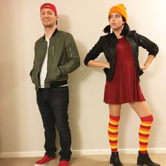 Easy 90s couple Halloween costume. Recess TJ & Spinelli. DIY.
