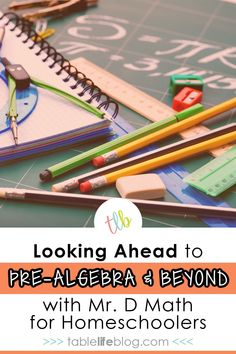 Don't be scared of homeschooling pre-algebra and the upper levels of math! Equip your kids with great resources and let those resources do the work for you! Homeschool High School, Homeschool Curriculum, Homeschooling, Algebra, Math Lessons, Teaching Math, Math Activities, Lesson Plans, Hands