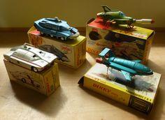 Awesome Thunderbirds Dinky Toys! Vintage Toys 1960s, Retro Toys, Toys For Boys, Kids Toys, Children's Toys, Childhood Toys, Childhood Memories, Gi Joe, Nostalgic Candy