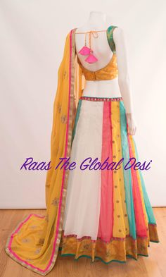 To get it customised, order on whatsapp on 9998408098 Choli Designs, Sari Blouse Designs, Lehenga Designs, Indian Bridesmaid Dresses, Indian Dresses, Indian Outfits, Garba Dress, Lehnga Dress, Indian Lehenga