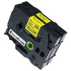 Greateam 2 Pack Black on Yellow Label Tapes P-touch Compatible for Brother TZ TZe 631 Tze631 Tze-631 12mm