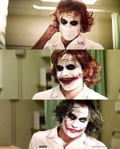 Heath Ledger as The Joker. The dark knight. Le Joker Batman, Der Joker, Heath Ledger Joker, Gotham Batman, Joker And Harley Quinn, Joker Suit, Joker T Shirt, Joaquin Phoenix, Gotham City