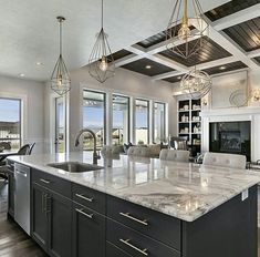 Top 10 Luxury Kitchen Ideas - CUBIC METER DESIGN Living The Laptop Lifestyle and learning how to make good money online from home .Click the pin link to learn Home Decor Kitchen, Kitchen Living, Rustic Kitchen, Interior Design Kitchen, Kitchen And Bath, New Kitchen, Rustic Farmhouse, Awesome Kitchen, Farmhouse Style
